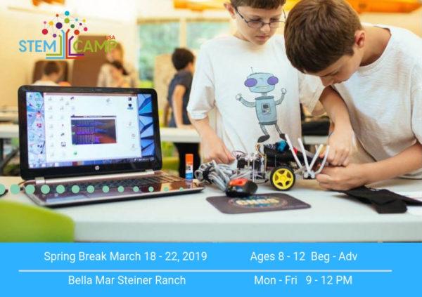STEM Camp Steiner Ranch March 18-22, 2019